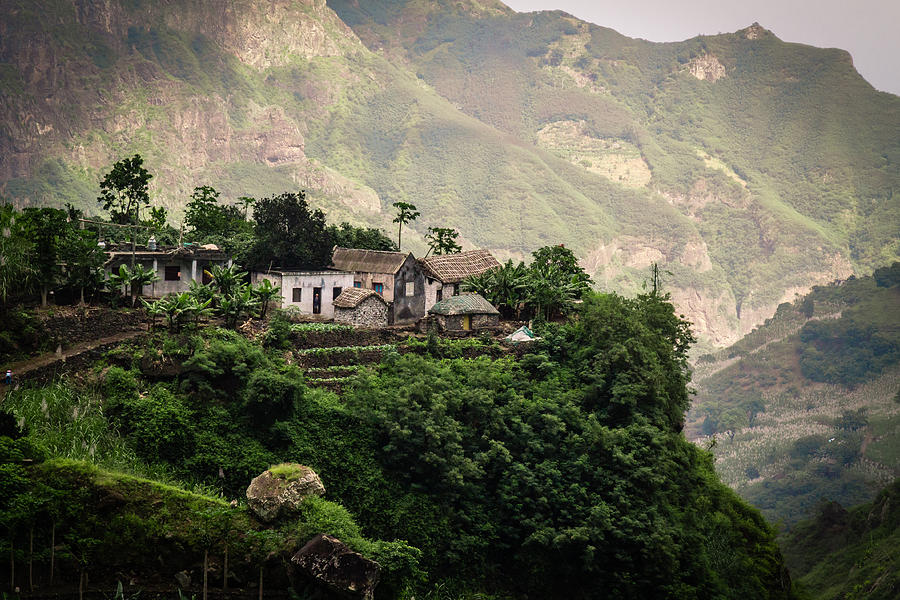 Small Farm in Paul Valley, Santo Antao, Cape Verde Photograph by photography by Ulrich Hollmann