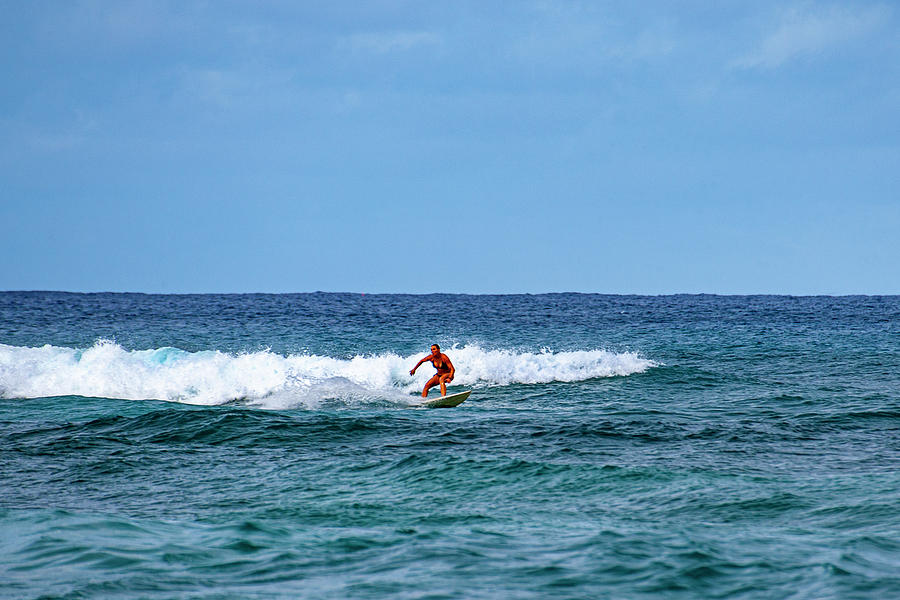 Small Surf on North Shore by Anthony Jones