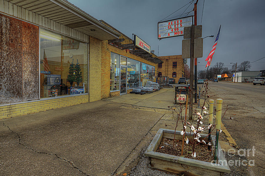 Small Town Street  by Larry Braun