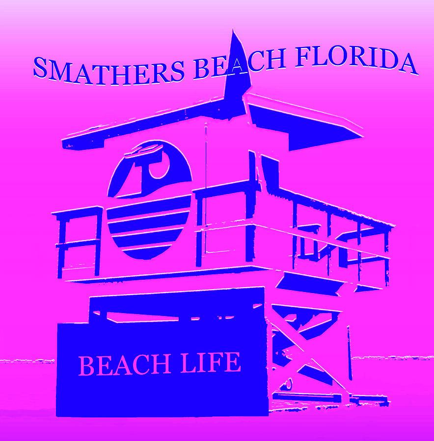 Smathers Beach Florida Mixed Media