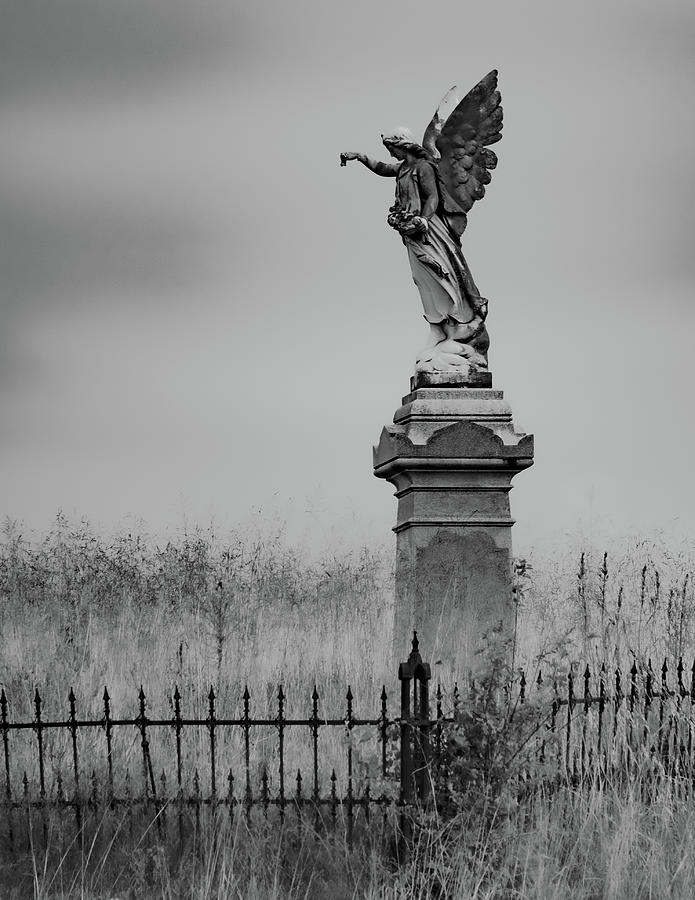 Cemetery Photograph - Smith Cemetery Angel by Scott Smith