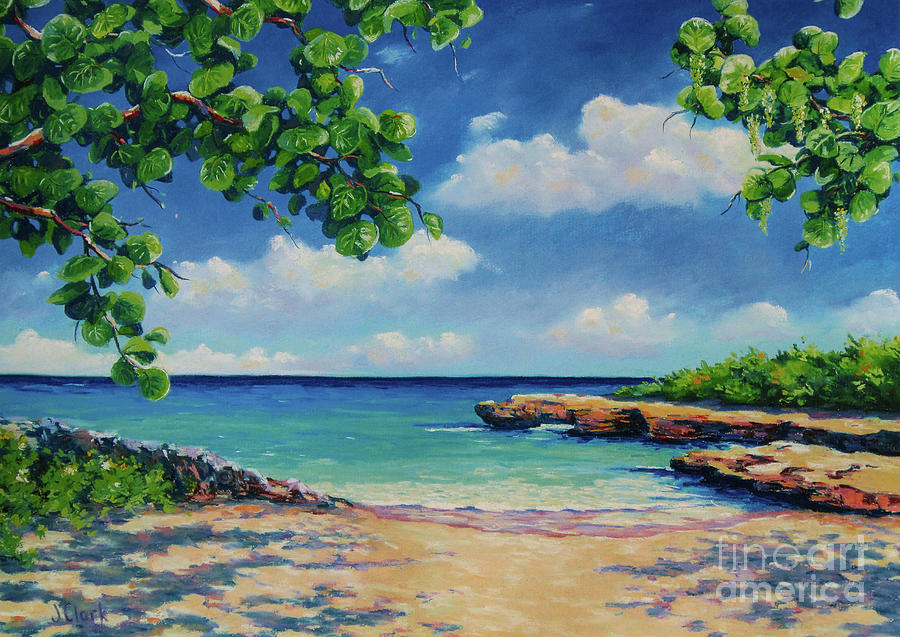 Cayman Painting - Smith Cove 16x23 by John Clark