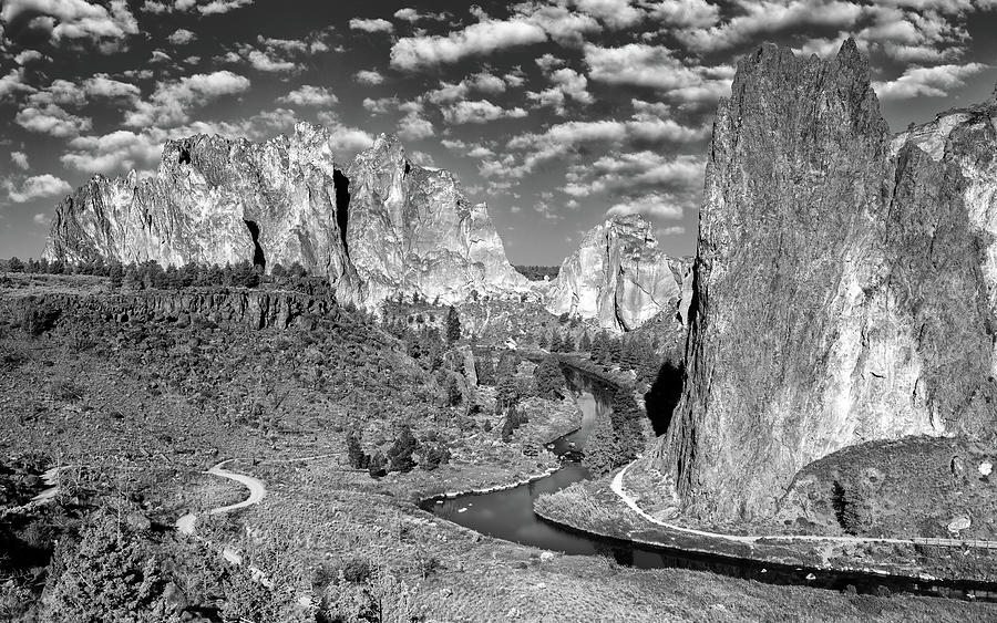 Smith Rock State Park Bw Photograph