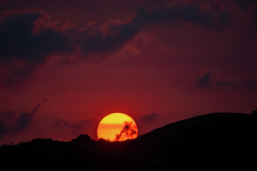 Smoke and Sunset by Mark Hunter