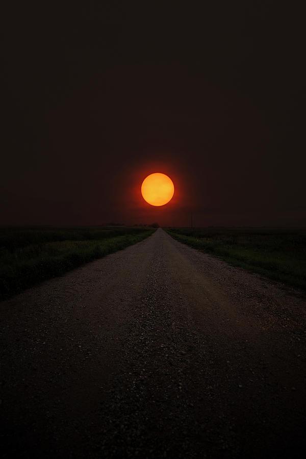 Sunset Photograph - Smokey Road by Aaron J Groen