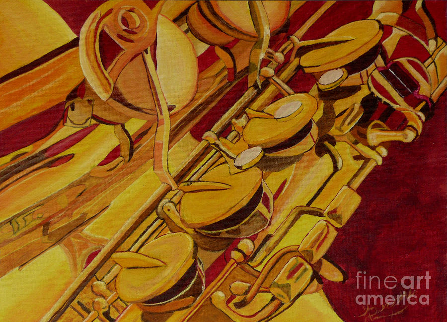 Sax Painting - Smokin Sax by Anthony Dunphy
