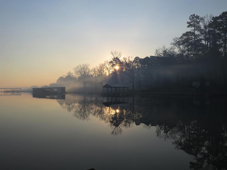 Smoky Lake Sunrise Photograph