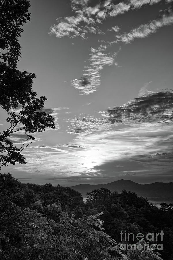 Black And White Photograph - Smoky Mountain Sunrise 10 by Phil Perkins
