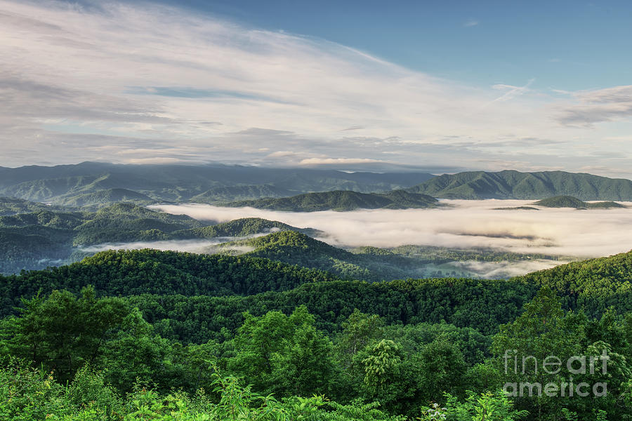 Smoky Mountains Photograph - Smoky Mountain Sunrise 8 by Phil Perkins