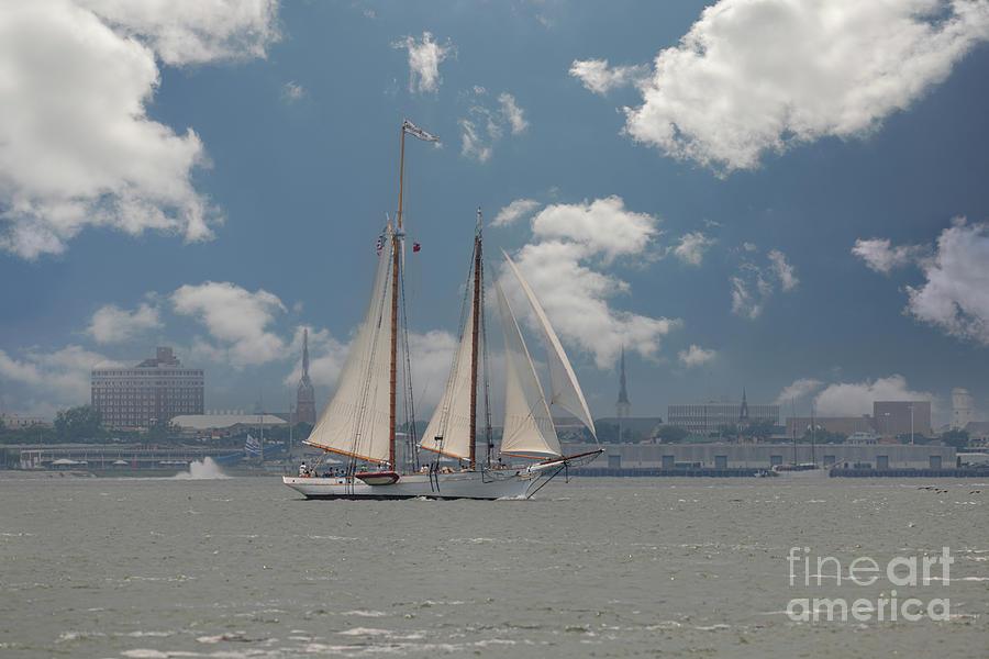 Smoothe Sailing - Spirit Of Sc - Tall Ship - Charleston Photograph
