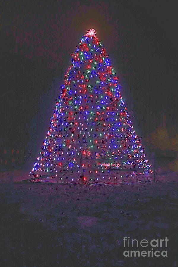 Smudged Christmas Tree by Karen Silvestri