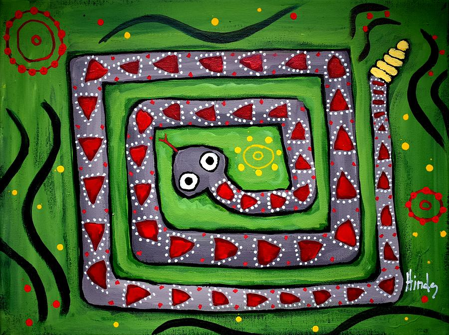 Snake In The Grass Painting