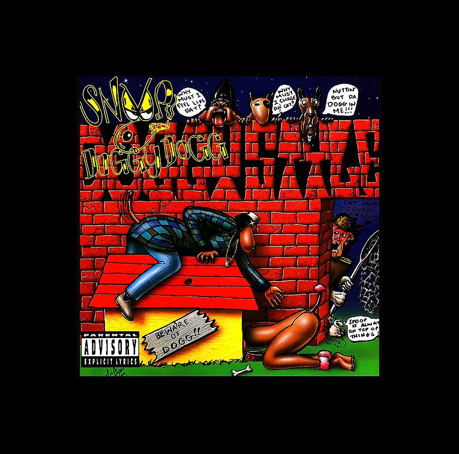 ChaseM Mens Snoop Dogg Doggystyle Hoodies Hoodie Black