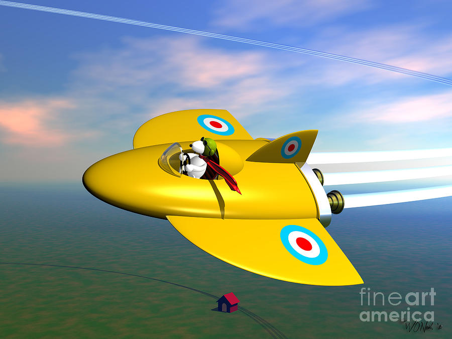 Snoopy In His Sopwith Camel by Walter Neal