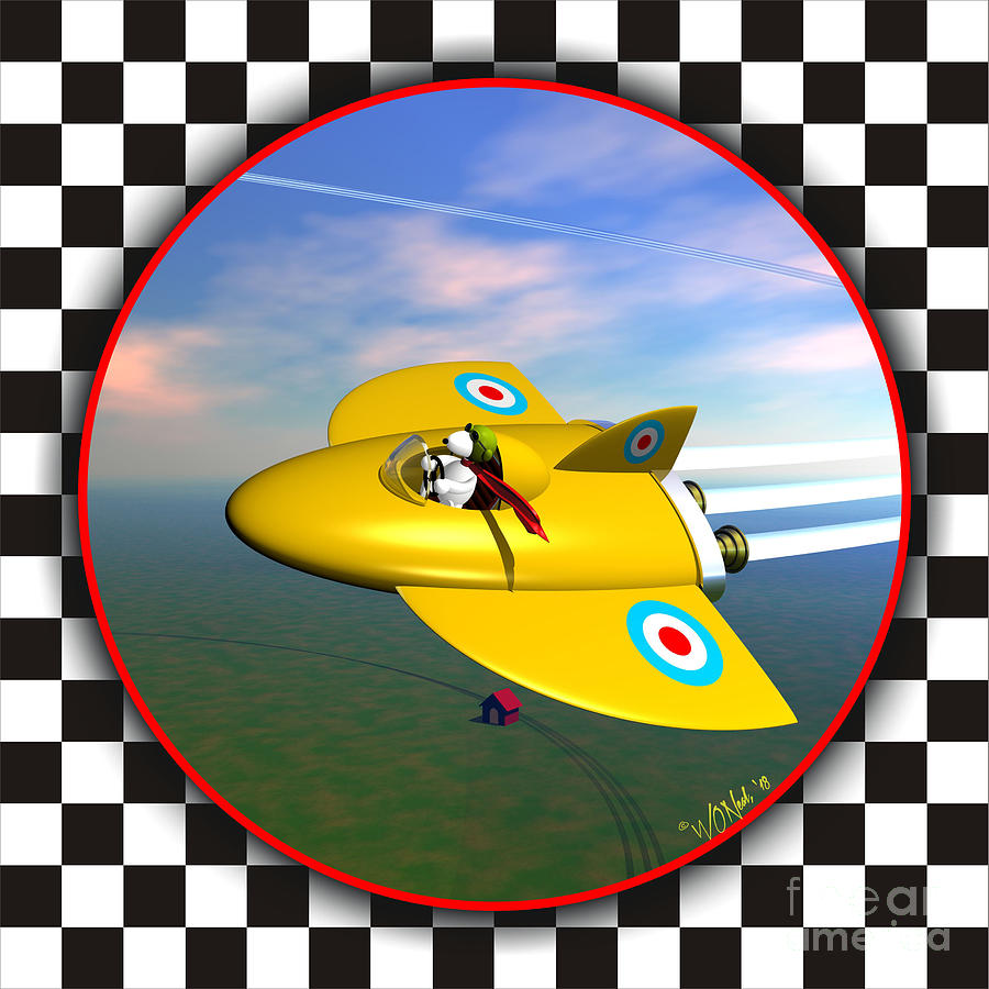 Snoopy In His Sopwith Camel 2 by Walter Neal
