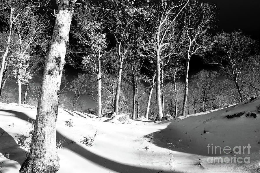 Snow at Bear Mountain New York by John Rizzuto