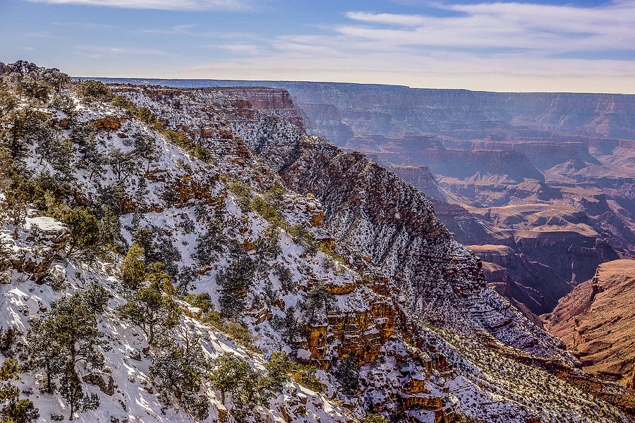 Snow Covered Grand Canyon Photograph