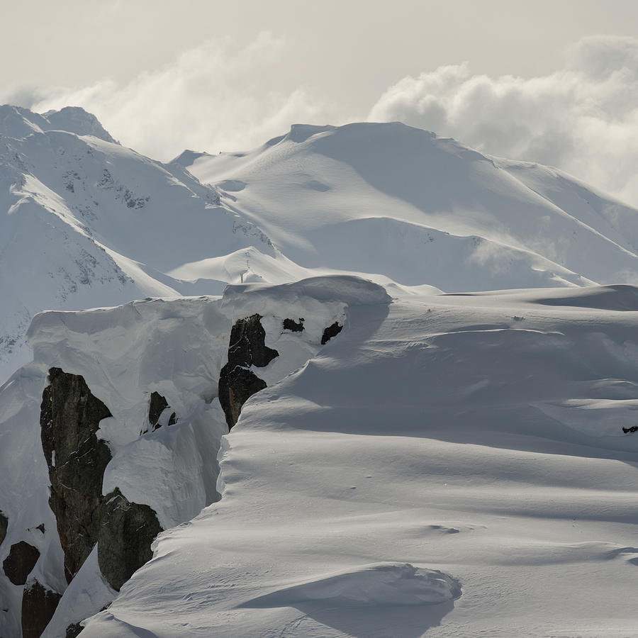 Snow covered mountains Photograph by Fotosearch