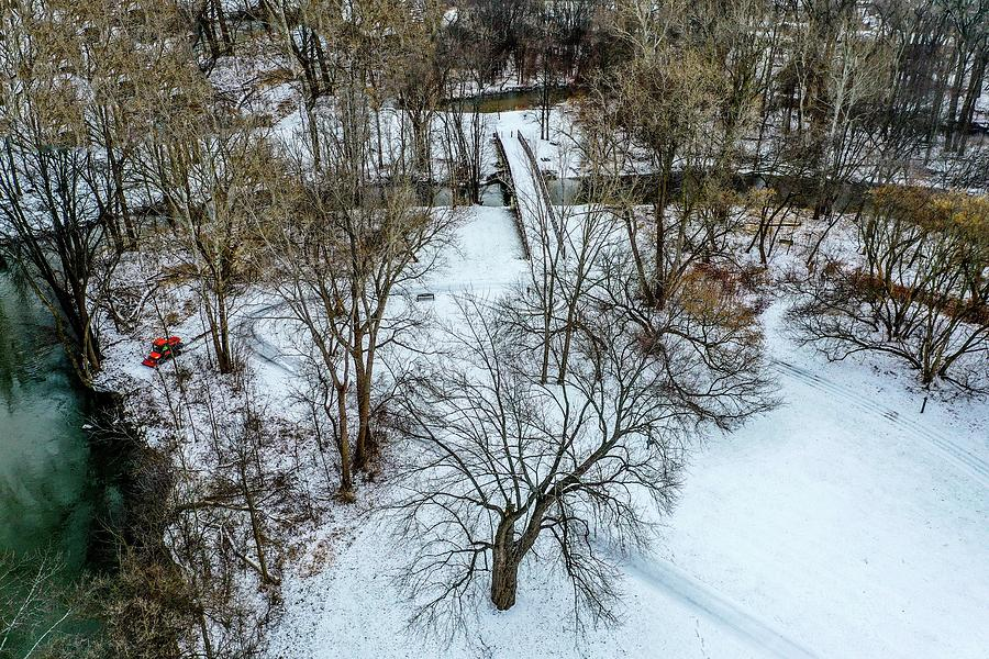 Snow Covered Park DJI_0841 by Michael Thomas