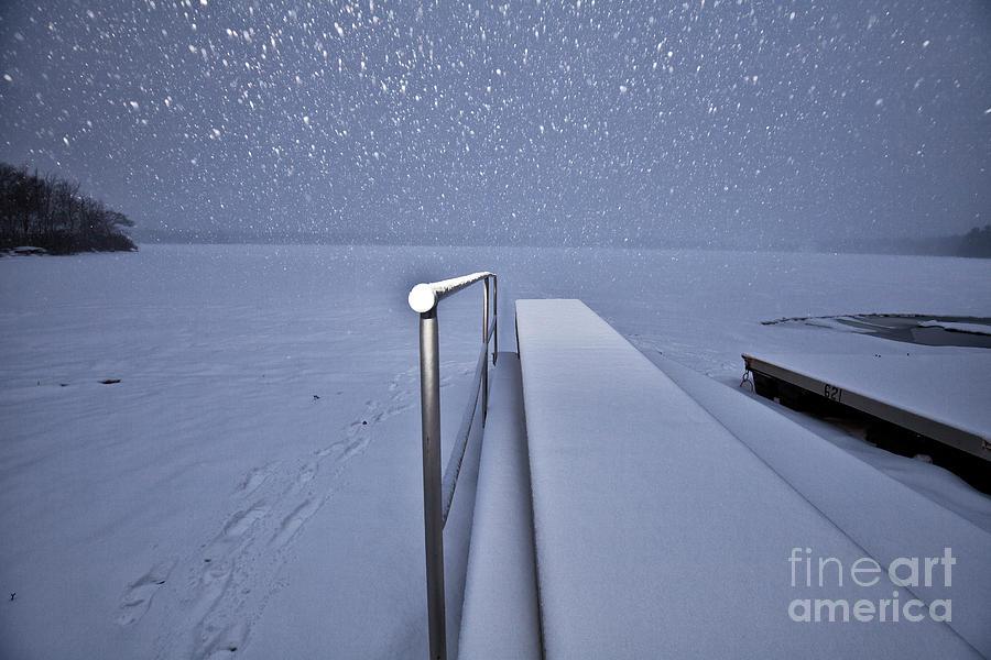 Snow Falling Photograph
