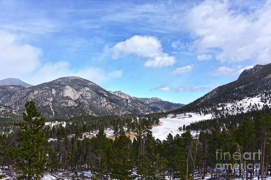 Snow In Rocky Mountain National Park Photograph
