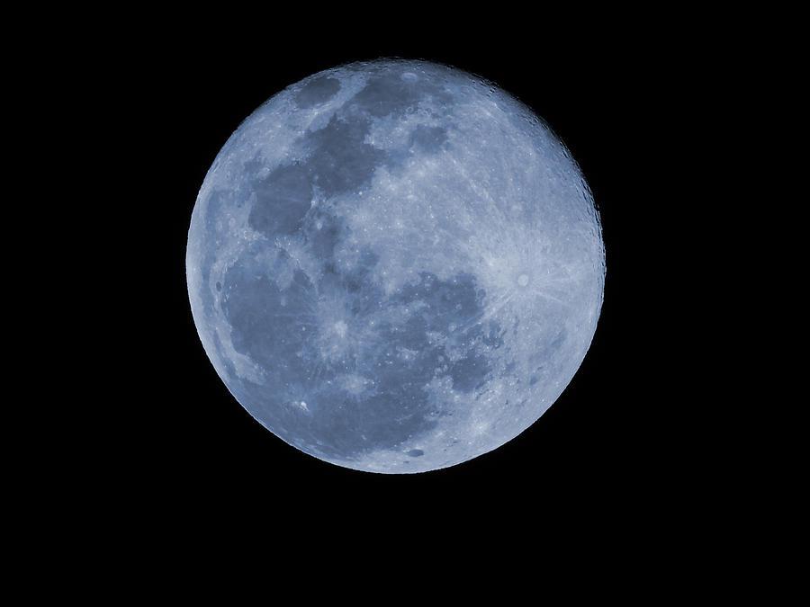 Snow Moon 2020 Photograph