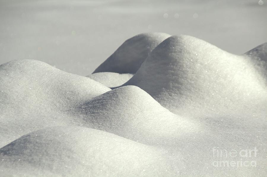 Snow Photograph - Snow Mounds by Roland Stanke
