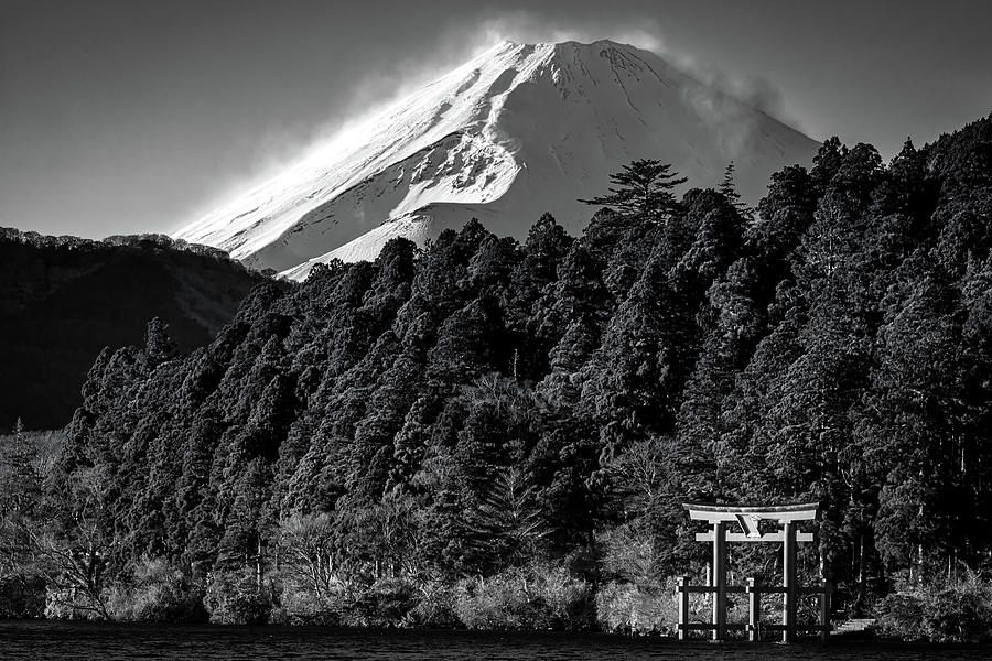 Snow on Fuji 2 by William Chizek
