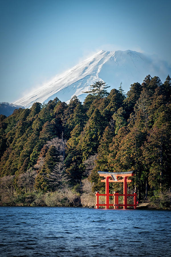 Snow on Fuji 3 by William Chizek