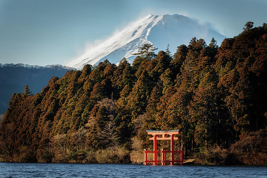 Snow on Fuji by William Chizek