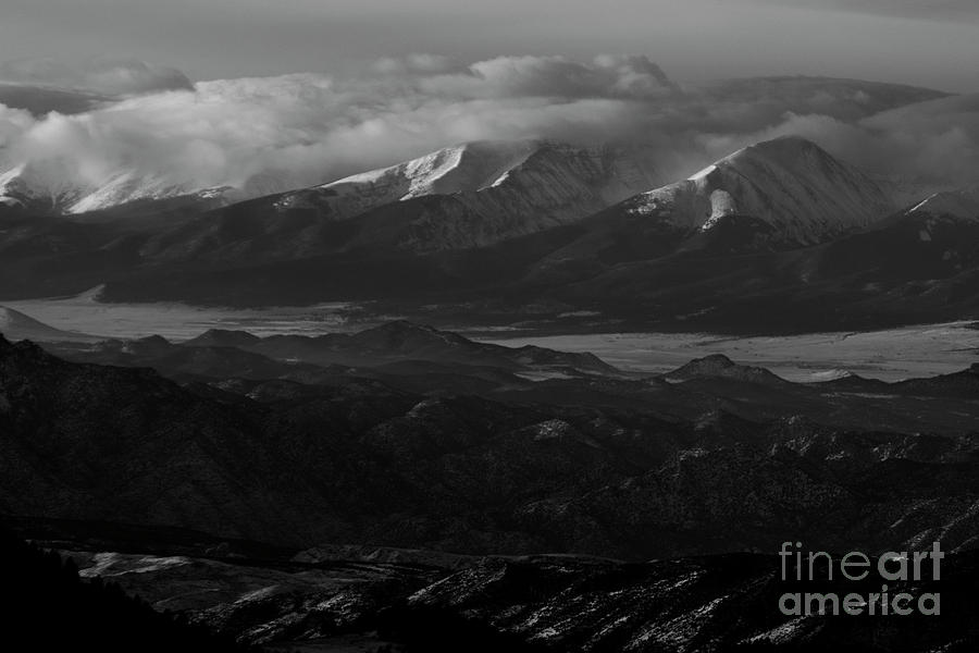 Snow on the Sangre de Cristo Mountains by Steve Krull