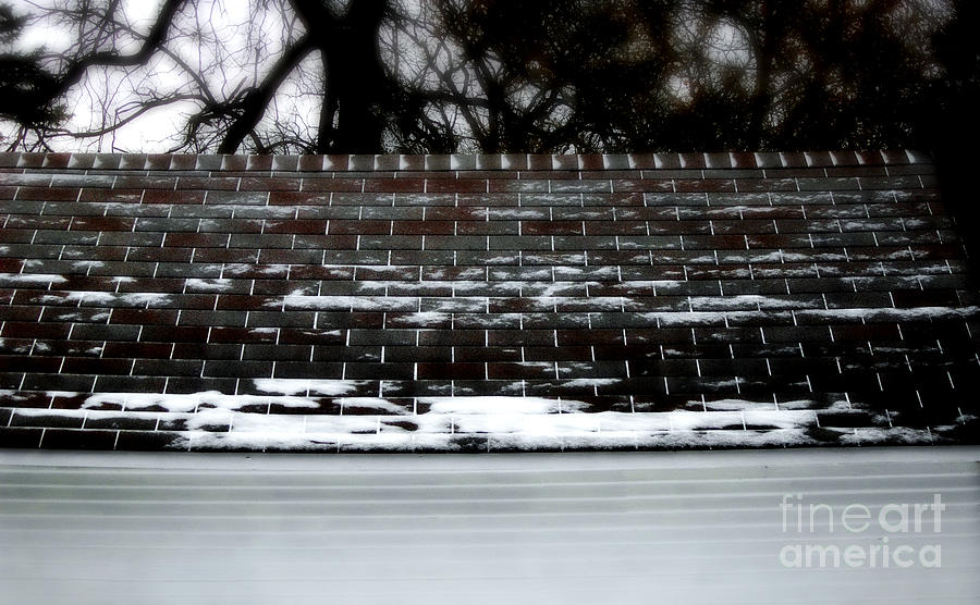 Snow Patterns On The Roof Photograph