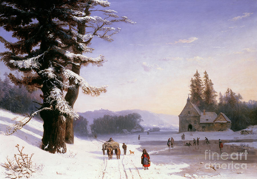 Snow Scene in the South of France, 1868 by Josephine Bowes