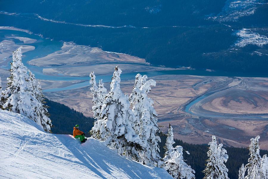 Snowboarding at Revelstoke Mountain Resort Photograph by stockstudioX