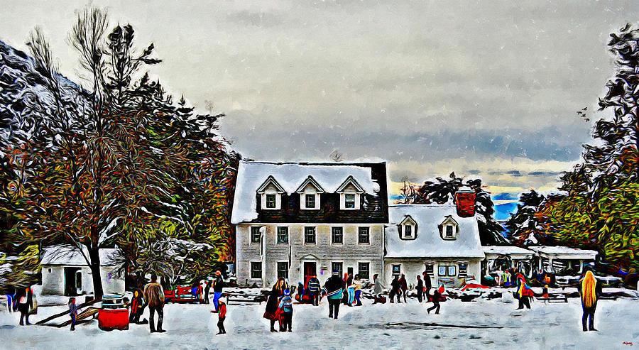 Snowfall At Rileys Farm  by Glenn McCarthy Art and Photography