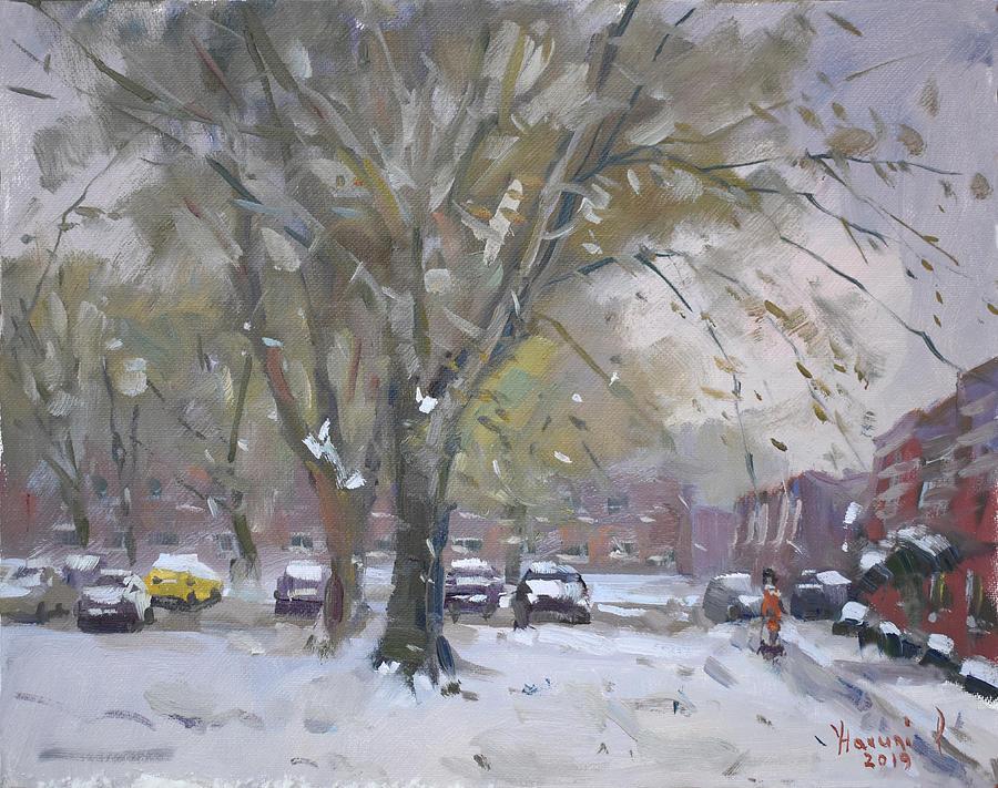 Snowfall at Royal Park Apartments by Ylli Haruni