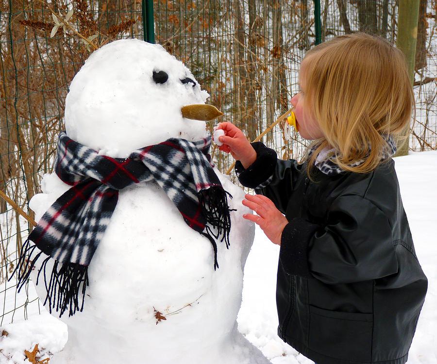 Snow Photograph - SnowGirl by BeLinda Cordes