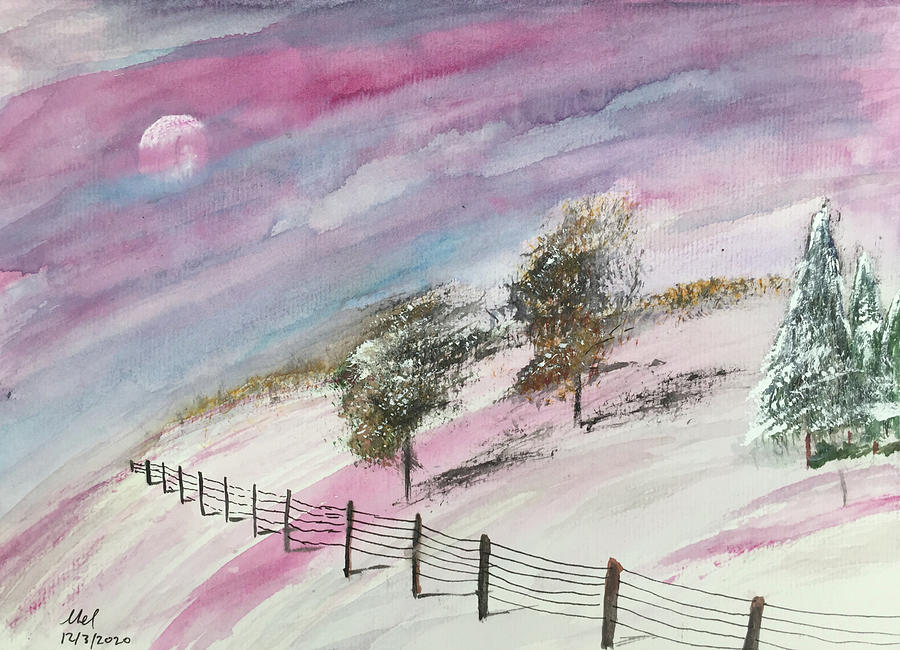 Snowscape Painting. Painting