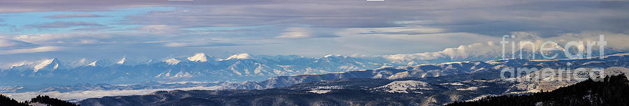 Snowstorm Panorama On The Sangre Photograph