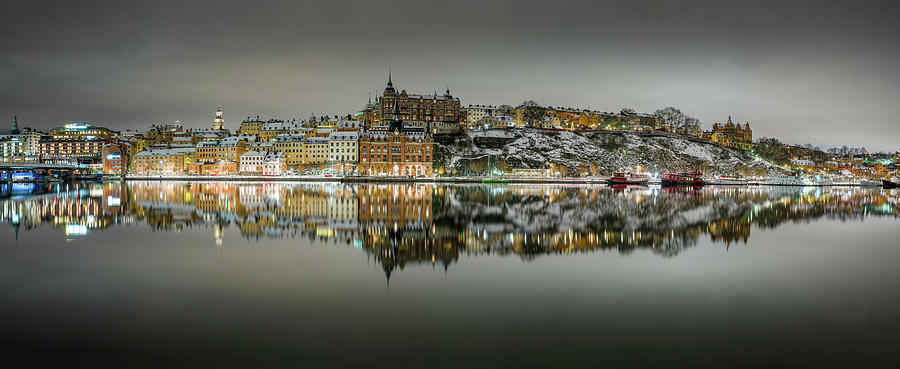 Stockholm Photograph - Snowy, dreamy Stockholm reflection by Dejan Kostic