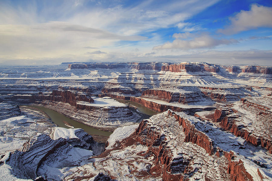 Snowy Goose Neck - Dead Horse Point State Park Photograph