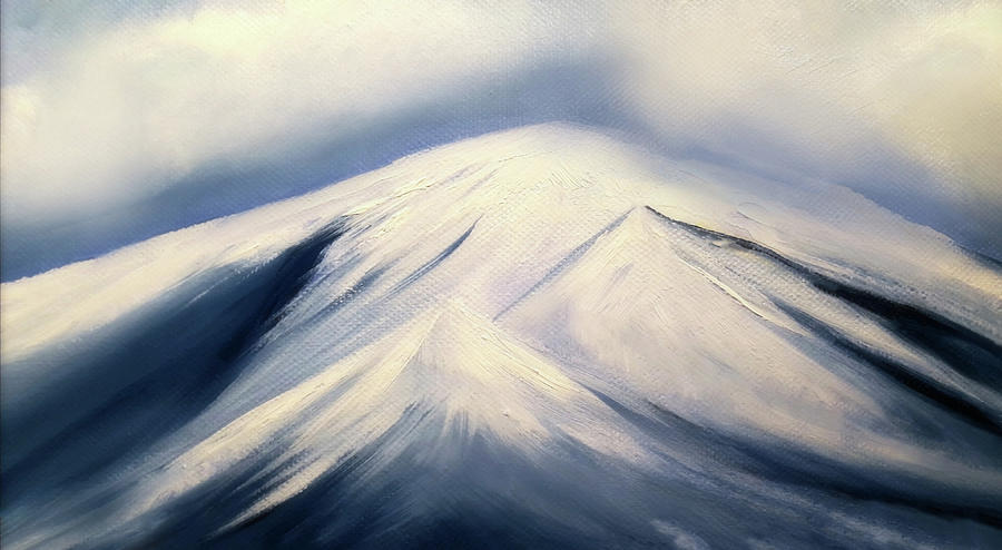 Snowy Mountains Painting