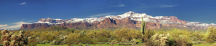 Snowy Panorama of the Superstitions by Rick Furmanek