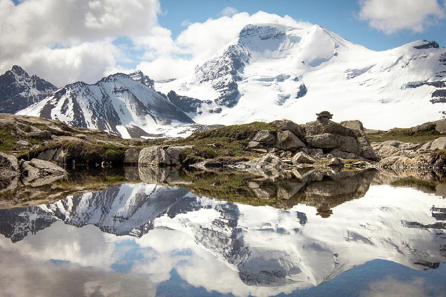 Tarn Photograph - Snowy Reflection by Jake Sublett