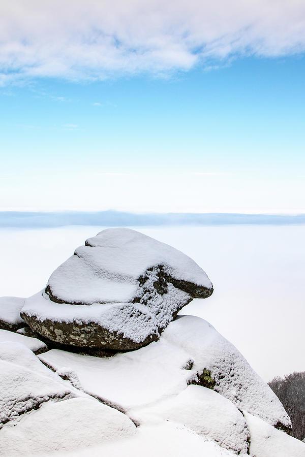 Snowy Rock Photograph