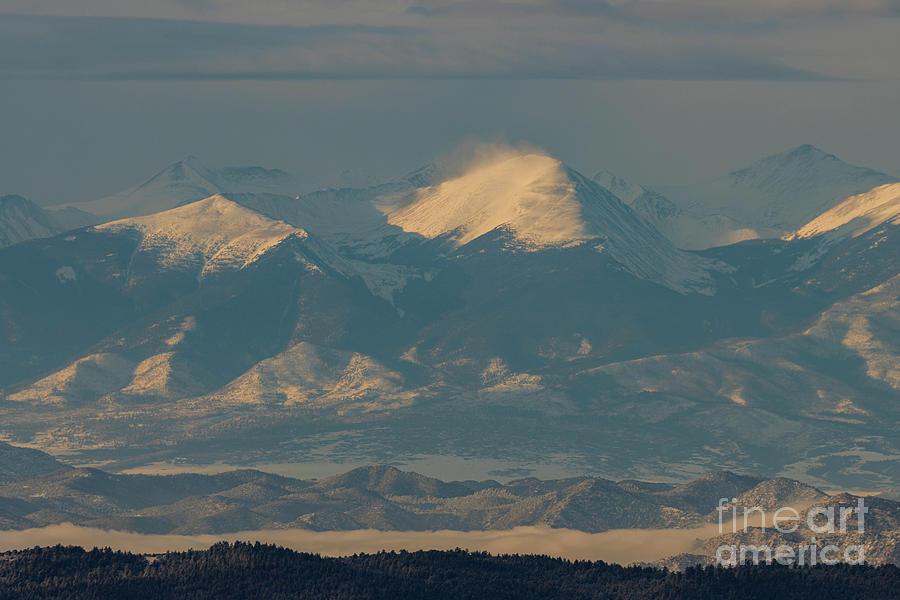Snowy Sunrise On The Sangre Photograph