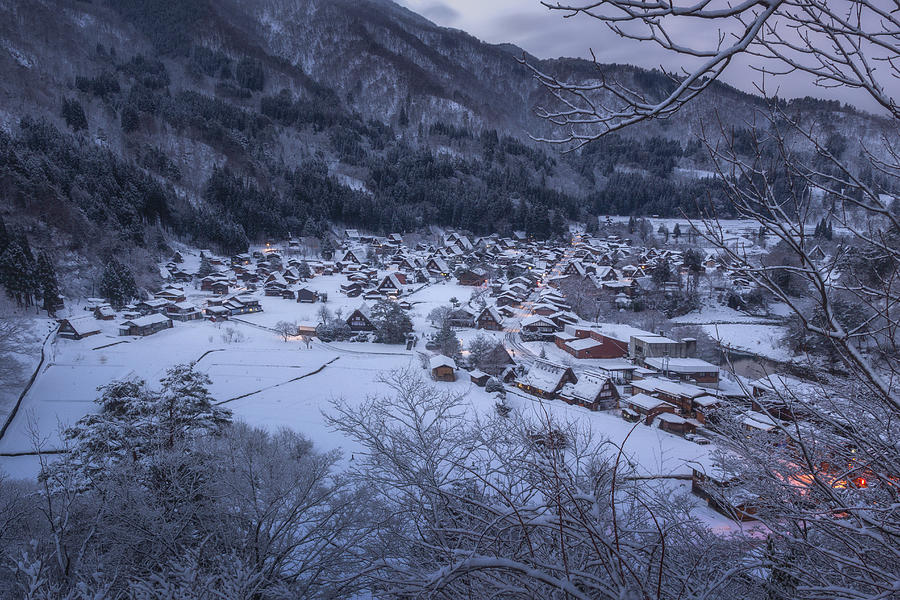 Snowy Village 2 by Francis Ansing