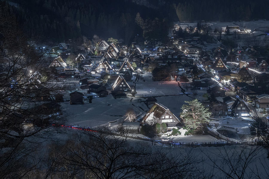 Snowy Village 3 by Francis Ansing