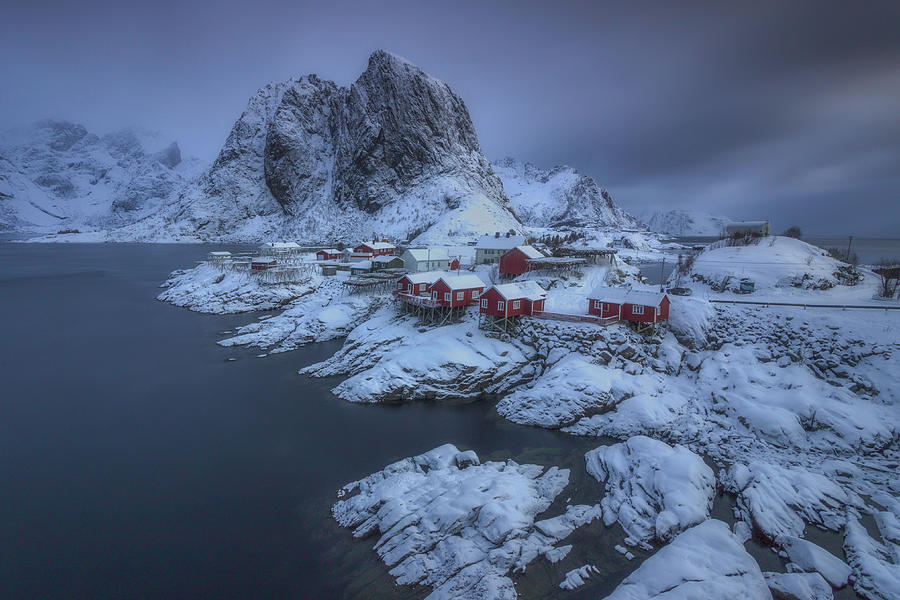 Snowy Village 4 by Francis Ansing