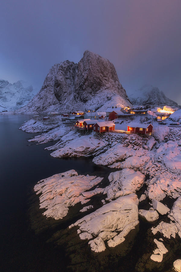 Snowy Village by Francis Ansing